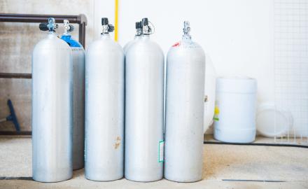 Distribución de gas envasado a domicilio.